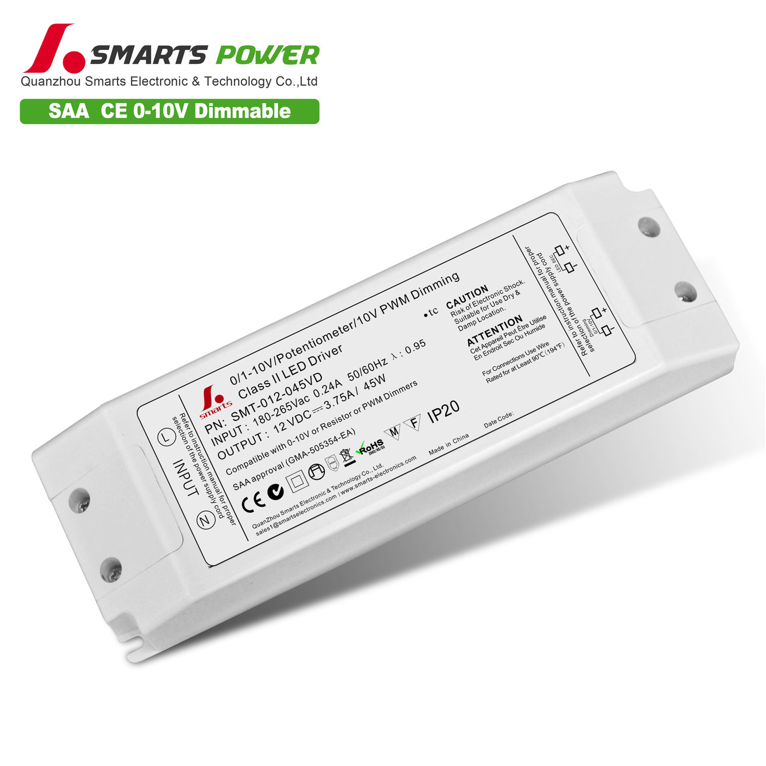 PWM dimmable led driver 45w
