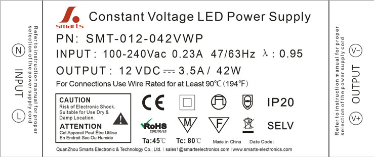 led power supply 40w