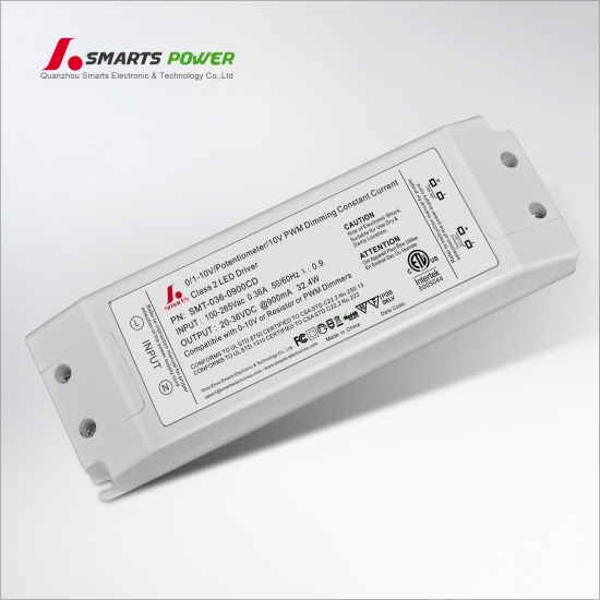 Controlador led regulable 900ma 32.4w 0-10v / pwm