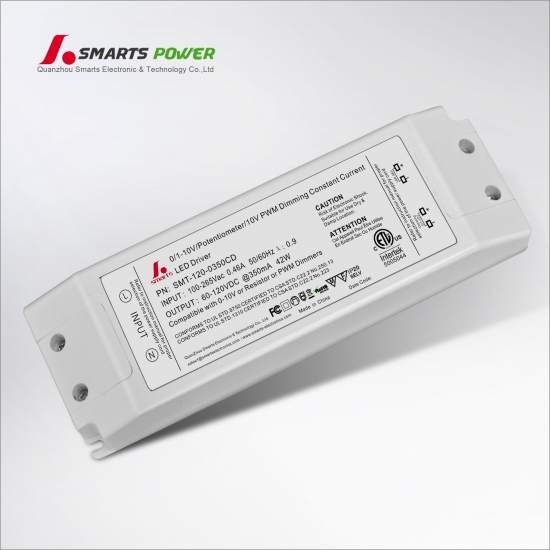 Driver conducido dimmable 350ma 42w 0-10v / pwm