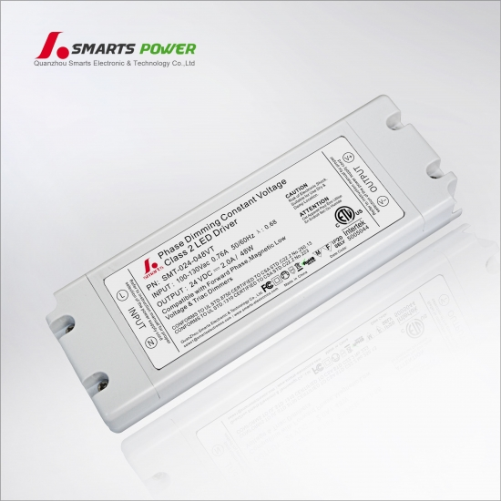 etl listed triac regulable 24v 48w led driver
