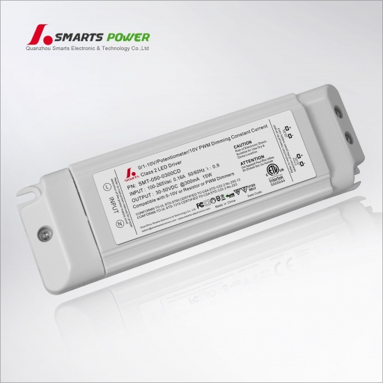 Driver led regulable 300ma 15w 0-10v / pwm