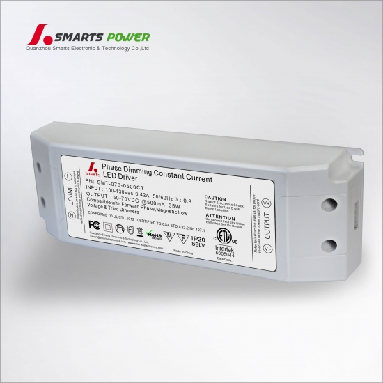 Controlador de potencia LED regulable tria 500ma