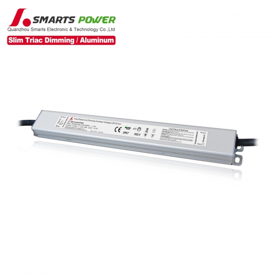 Fuente de alimentación led impermeable regulable de 12 voltios dc ip67