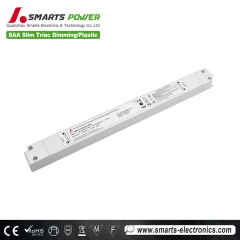 24v 30w tamaño delgado triac dimmable led driver