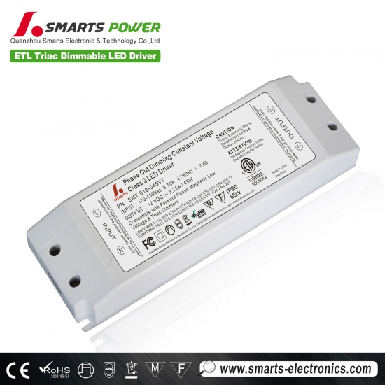 12v 45w triac controlador de luz de panel led regulable