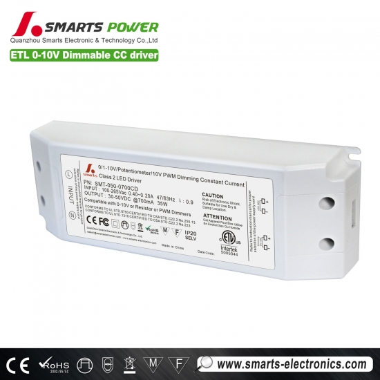 700ma 35w 0-10v / pwm controlador led regulable