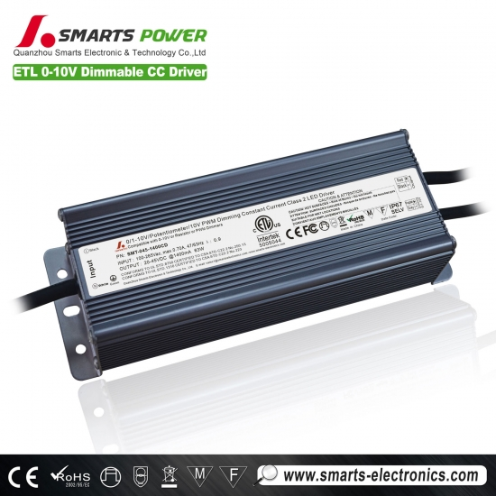 1400ma 63w 0-10v / pwm controlador led regulable