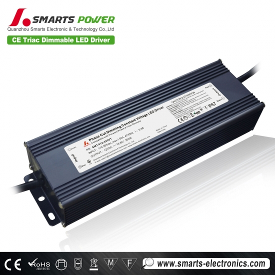 12v 200w voltaje constante triac dimmable transformador