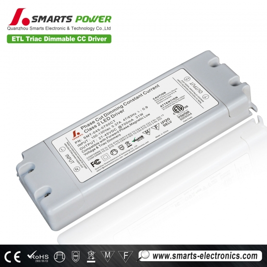 700ma 31w triac dimmable fuente de alimentación led