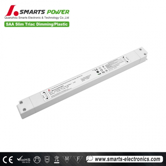 Controlador led regulable triac de tamaño delgado 24v 30w