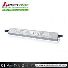mejor Certificado ul al aire libre 12v 1a 2a 30w transformador de foco led regulable
