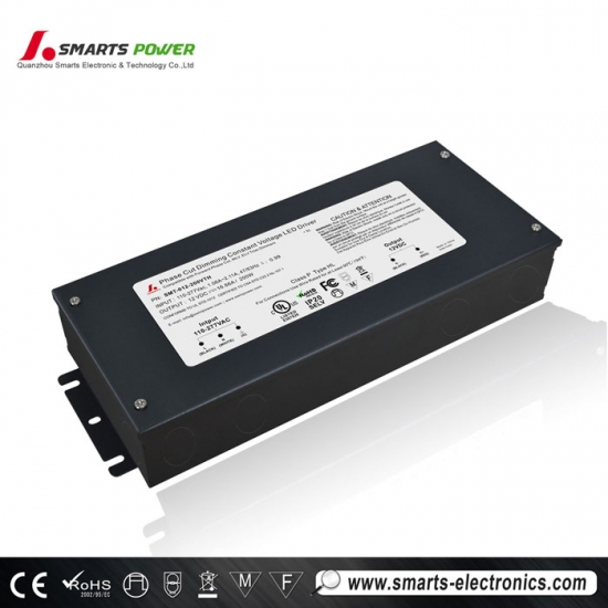 12vdc 200v triac dimmable led driver with 7 years warranty