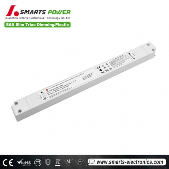 Controlador led de atenuación triac de 24 v, controlador led regulable de 100 vatios