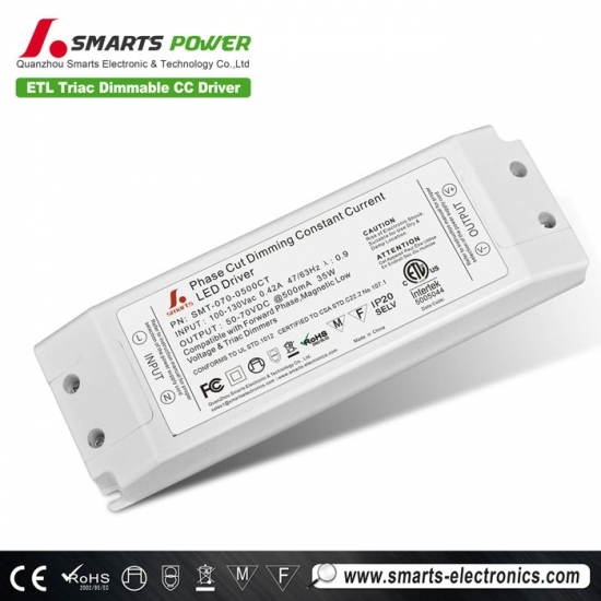 Conductor de potencia led regulable triac 500ma