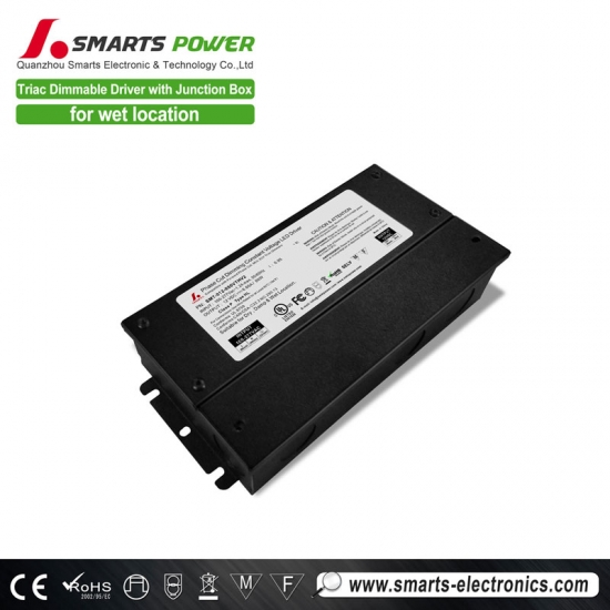 80w triac dimmable led driver with junction box