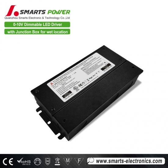 UL listed 12v 150w 0-10v dimmable led driver